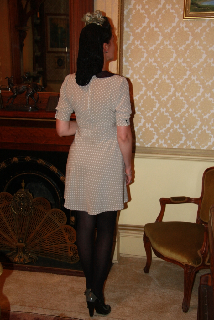 1940s Style Dress Back - Sep 2013