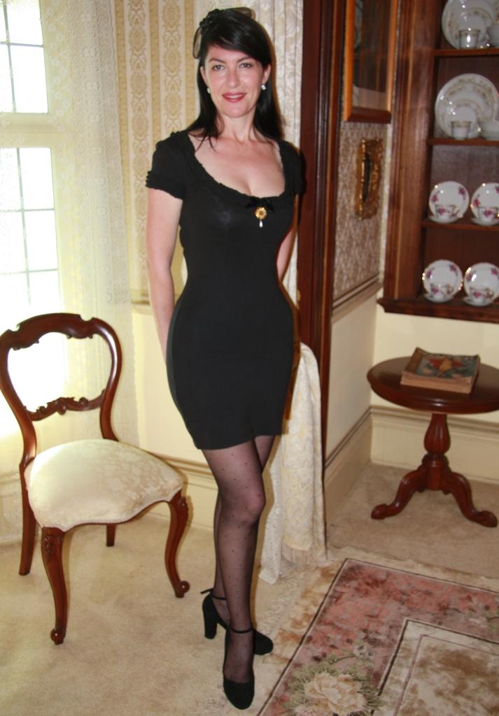 Black 'Cake' Dress - Front