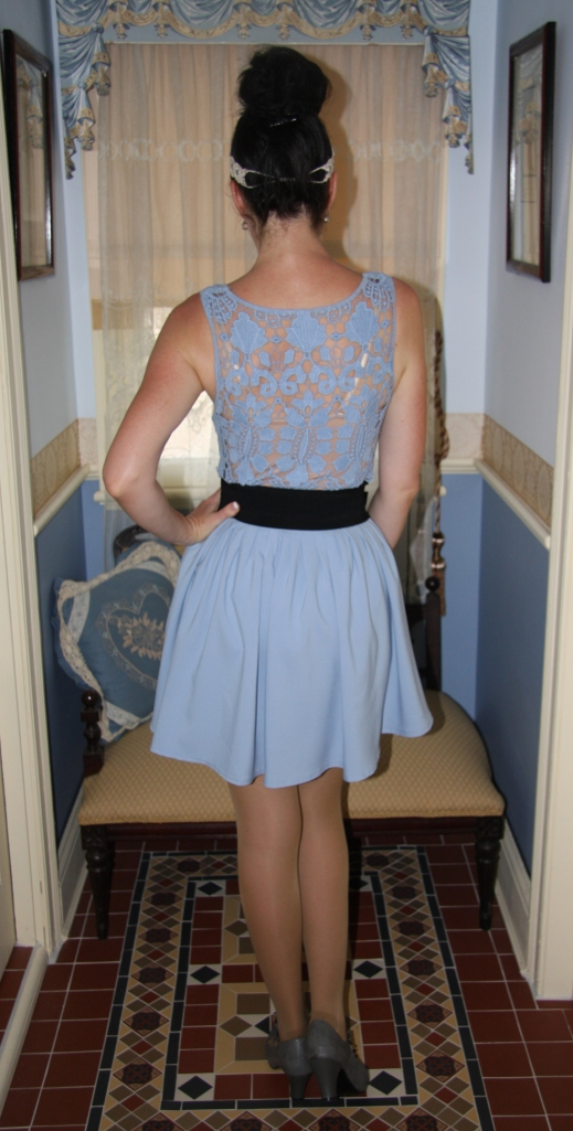 Blue Crochet - Back