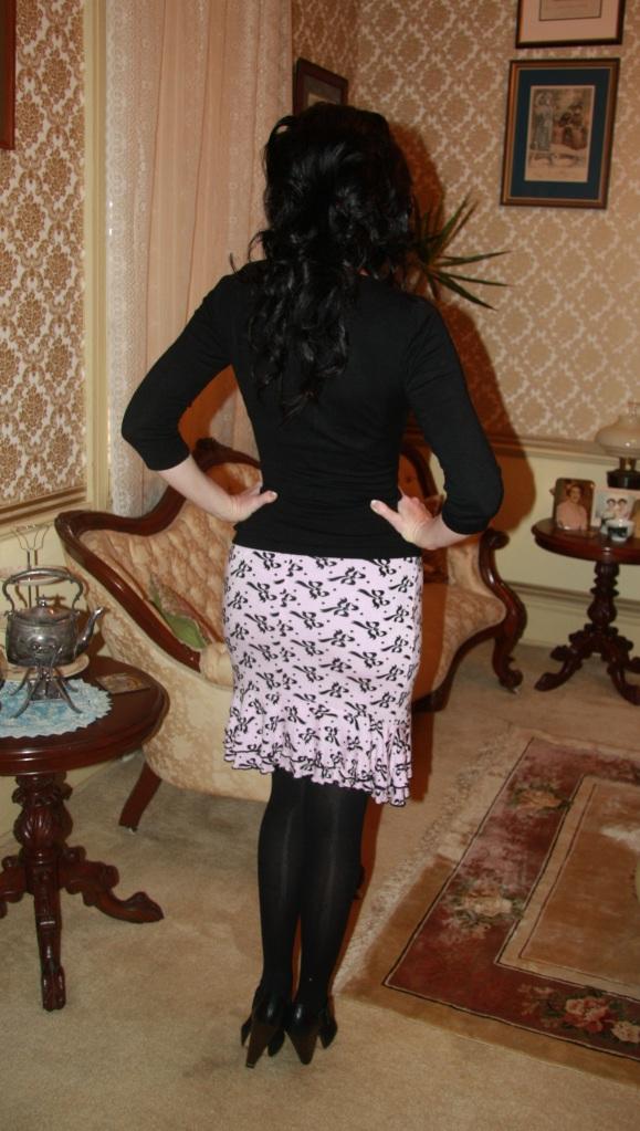 Bows Black - Back