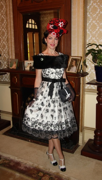 Fashions on the Field Entry (Semi Finalist) – Winter Racing 2016 – Theme: Black and White with Red Accent